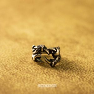 Anillo garra animal plata 925-min