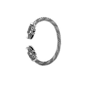 Brazalete-vikingo vikings-dragon-doble-plata regalo hombre