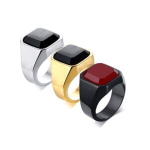 anillo elegante casual formal cuadrado